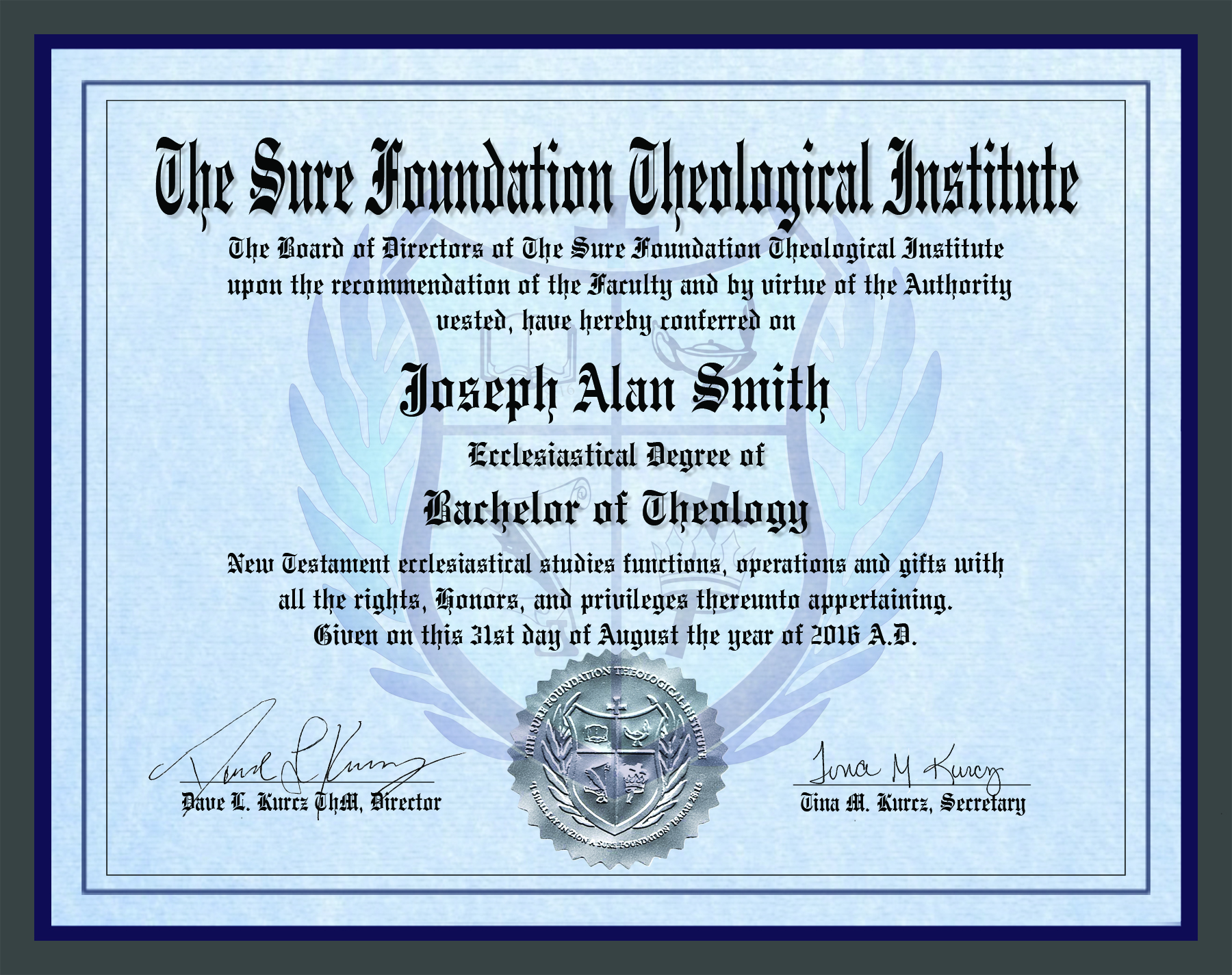 Bachelor Degree in Theology